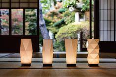 和モダンインテリア照明 - 和紙行灯 Japanese Lighting, Japanese Lamps, Modern Japanese Interior, Japanese Modern, Light In, Lamp Light, Home Interior Design, Arch Interior, Origami Lampshade