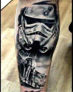 Epic piece from Al Sigal. - Star Wars Jewellery - Fashionable Star Wars Jewellery - - Epic piece from Al Sigal. Leg Tattoos, Body Art Tattoos, Sleeve Tattoos, Tattoos For Guys, Cool Tattoos, Tatoos, Nerdy Tattoos, Tattoo Drawings, Star Wars Tattoo