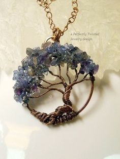 Wire Wrapped Tree of Life Pendant Tanzanite by PerfectlyTwisted