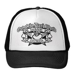 out of the dark world tattoos trucker hat | Zazzle