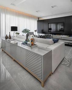 Living Room Tv Unit Designs, Home Design Living Room, Dining Room Design, Living Room Sofa, Living Room Decor, Classy Living Room, Dream Decor, Sofa Design, Wall Design