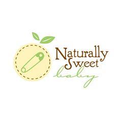 Natturaly Sweet Baby Logo Typography Logo, Logo Branding, Branding Design, Logo Design, Logos, Graphic Design, Logo Inspiration, Baby Boy Background, Baby Gifts To Make