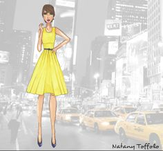 Yellow New York by Natany Toffolo