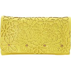 Melie Bianco Marie Clutch (€26) ❤ liked on Polyvore featuring bags, handbags, clutches, bolsas, purses, yellow, melie bianco purse, melie bianco, chain handle handbags and yellow handbags