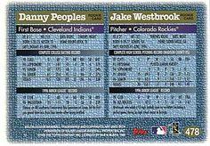 1997 Topps #478 Danny Peoples / Jake Westbrook Back