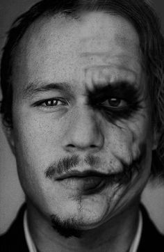 Heath Ledger... such a beautiful person with such a sad soul ... almost looks like a self portrait :<(