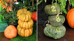 No-Carve Pumpkin Projects | Steven and Chris | Not all of us are pumpkin-carving pros. But before you give up and leave your front stoop bare this Halloween, try your unskilled hand at one of these three easy pumpkin projects—all with little to no carving required. Pumpkin Tea...