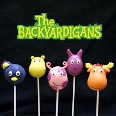 10 Backyardigans Cake Pops for birthdays party by SweetWhimsyShop, $39.00