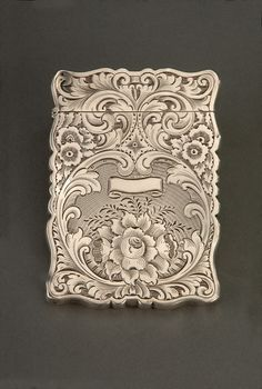 1840s, Letitia Tyler's calling-card case.Wouldn't it be fun to use this when we went to a tea.