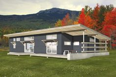 This design is simple and efficient making it an ideal house plan for a modern f. - House Plans, Home Plan Designs, Floor Plans and Blueprints Shed House Plans, Cottage Style House Plans, Diy Shed Plans, Cottage Style Homes, Country House Plans, Small House Plans, Retirement House Plans, Cottage House, The Plan