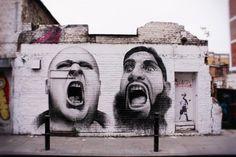 New street art in Brick lane, London.