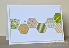 Stampin Up ideas and supplies from Vicky at Crafting Clares Paper Moments: Happy Hexagons!