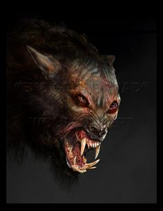 Werewolf concept art for End of the Road, an upcoming short film.