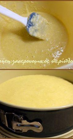 Σιροπιαστό κέικ καρύδας χωρίς αυγά και βούτυρο - cretangastronomy.gr Cheeseburger Chowder, Icing, Food And Drink, Pudding, Fruit, Cake, Ethnic Recipes, Desserts, Best Cheesecake