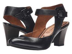 Tamaris Amily 29600-26 Cut Out Heel Buckle Strap Pump leather black 2.75h sz38 120.00 5/16