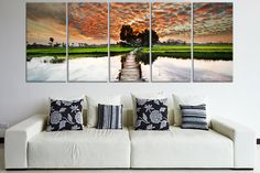 Great canvas print  beautiful landscape sunset by CanvasRevel