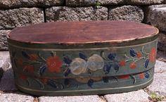 Antique Brides Box | Antique 19th C Large Scandinavian /German Bride's Box with Outstanding ...