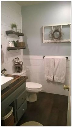 Farmhouse bathroom - 31 Latest Bathroom Decor Ideas With Farmhouse Style bathroomdecor bathroomideas farmhousebathroom ⋆ All About Home Decor Upstairs Bathrooms, Downstairs Bathroom, Bathroom Renos, Bathroom Ideas, Simple Bathroom, Master Bathroom, Bathroom Renovations, Dream Bathrooms, Relaxing Bathroom