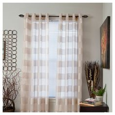 Yorkshire Home Sofia Grommet Curtain Panel - Cream