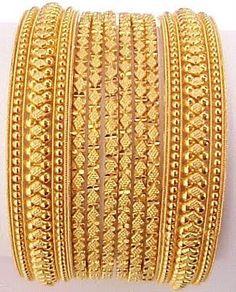 Indian Wedding Bangles | Indian Jewellery Design: Indian Traditional Bridal Gold Bangles Set