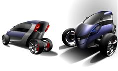 Quim Vila-Masana Mas, Viu, 3 Wheel Car, Futuristic Vehicle