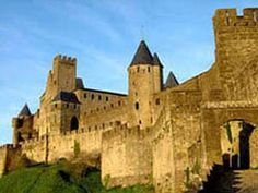 Château Comptal, Carcassonne - France, the Castle of the medieval Viscounts of Carcassonne, in the Languedoc