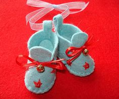 Baby Booties - Ornament