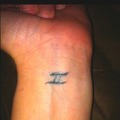 In memory of my twin sister. It's the universal symbol for twins. kssummerell
