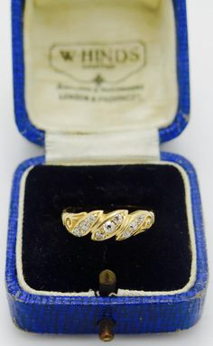 A Victorian gold , Old cut diamond ring dated 1896 , the hallmark is worn and is just about illegible . The ring is in good condition for Victorian Gold, Class Ring, Diamond Cuts, 18k Gold, Sapphire, Rings, Jewelry, Jewlery, Jewerly