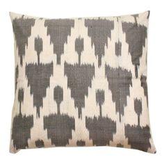 Gray Ikat Silk Pillow cover. 18x18. 45usd  via Furbish