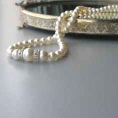 Luxurious Ivory Pearl Necklace Bridal by LRichardsDesign on Etsy