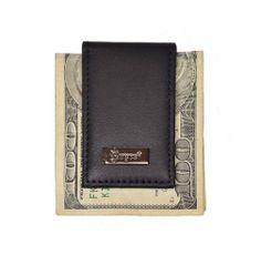 Royce Leather Nappa Prima Magnetic Money Clip Full Grain Milano Calfskin 812-BLK-5