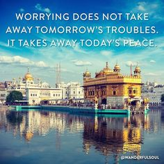 """Practice staying present today "" repost from @wanderfulsoul #wanderlust #travel #adventure #peace #zen #noworries #yoga #meditation #qotd #wisdom #inspiration #india #goldentemple #amristar @wanderfulsoul"