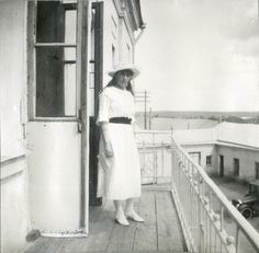 Anastasia, also on the same balcony as her sisters and looking quite like Tatiana here, 20 May 1916.