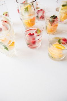 DIY infused ice cubes—for festive baby shower drinks @somawater