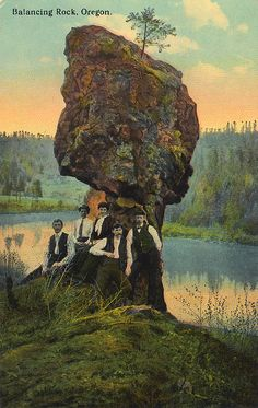 Balancing Rock on the Willamette River, Oregon    named Coalco above 99E between Oregon City & Canby.