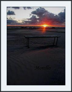 Sunset, sea, sand, romantic, clouds, nature,fine art, photography, print 8x12. $20.00, via Etsy.