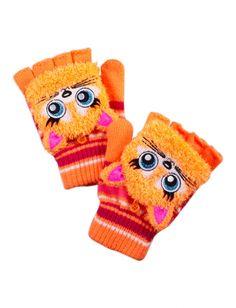Fuzzy Critter Cat Flip-top Gloves | Girls Winter Accessories Accessories | Shop Justice