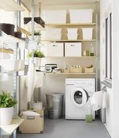 """Explore our web site for more info on """"laundry room storage ideas diy"""". Explore our web site for more info on """"laundry room storage ideas diy"""". It is an excellent spot Ikea Laundry Room, Basement Laundry, Laundry Room Organization, Laundry Room Design, Laundry Closet, Dark Basement, Laundry Bags, Laundry Decor, Small Utility Room"""