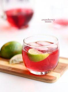 cranberry vodka.   2 parts cranberry juice  1 part vodka  lime wedges