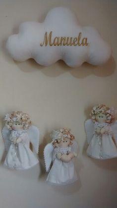 Móbile anjinhas para o batizado da Manuela ...