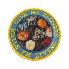 Give Me Flowers Patch (€5,11) ❤ liked on Polyvore featuring accessories