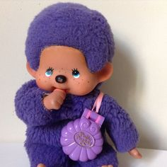 Kiki le vrai violet foncé Ajena collection. Made In France ° Mo0mins ° Polly Pocket.