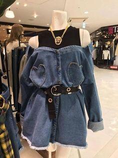 Lucu banget in 2020 Teen Fashion Outfits, Edgy Outfits, Mode Outfits, Korean Outfits, Grunge Outfits, Cute Fashion, Girl Outfits, Fashion Dresses, Vintage Fashion