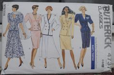Butterick 4737  Dramatic Suits Skirts Tops  Vintage by Clutterina