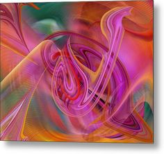 Rd Erickson Metal Print featuring the digital art The Color Of Flight by rd Erickson