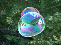 Iridescence can be seen in bubbles!