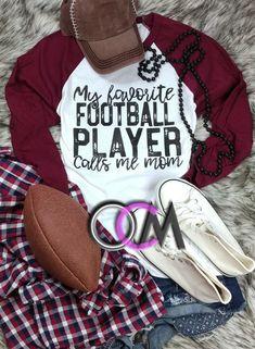 My Favorite Football Player Calls Me Mom Shirt, My Favorite Football Player Shirt, Football Mom Shirt, Football Shirt - Raglan - One Crafty Momma Team Mom Football, Football Mom Shirts, Football Players, Football Season, Youth Football, Football Stuff, Mama Shirts, Sports Mom Shirts, Cheer Shirts
