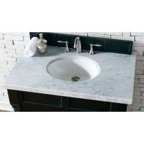 James Martin Single 36 Inch Carrara White Marble Countertop
