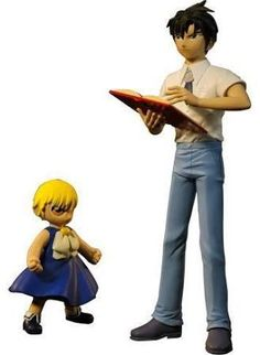 Now kids can have Kiyo and Zatch Bell as companions to their favorite animated show and card game battles!    Kiyo the taller, at approximately 12 in height comes with his spellbook.    The Zatch Bell Figure is approximately 6 in tall and both figu...
